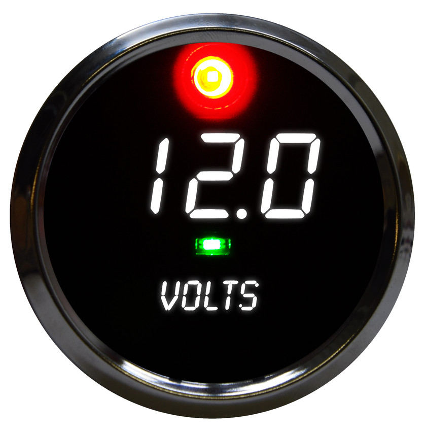 The Co-Pilot Voltmeter LED Digital Alarm is microprocessor-controlled and reads 7 -25.5 volts with spot-on accuracy!  Designed to work with any vehicle! It is accuracy, elegance, and intelligence all in one breathtaking display!