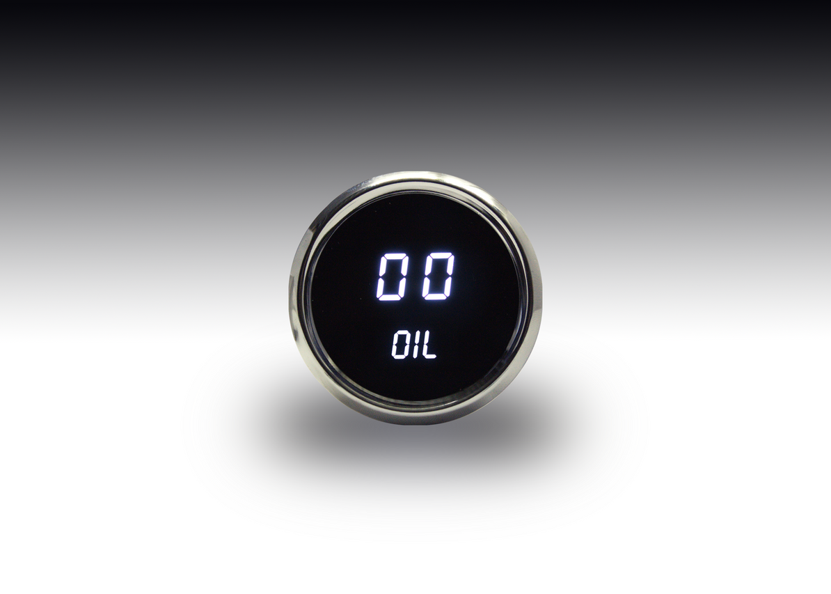 Oil Pressure LED Digital Chrome Bezel - MS9114 Oil Pressure is essential to the life of your engine, so why risk it? The Intellitronix LED Digital Oil Pressure gauge is microprocessor-controlled with 0-100 PSI accuracy and universally adaptable. This Oil Pressure gauges is accurate, super bright, and intelligent all in one.  How can you not need it?
