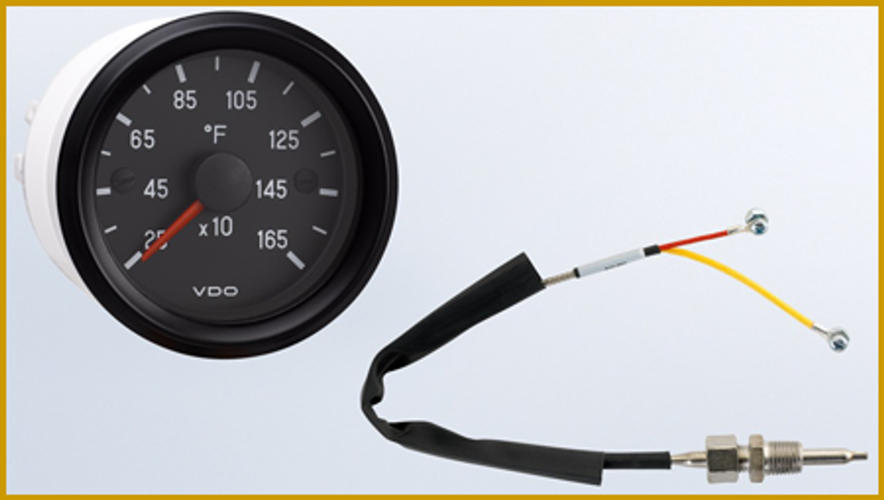 """DO Cockpit Series Pyrometer/ EGT Kit Part#310-953, Reads to 1650F, 12 Volt, 2 1/16"""" (52mm.)   Kit includes Gauge, 14mm Thermocouple, Weld Bung, 12ft harness.  Recently, Have interest in 12mm and 10mm Thermocouples, Some performance Heads use the smaller sizes.... Check above, you'll find drop down menu above Add to Cart button.  Can't Find What You are looking for... Contact our Technical Support Staff!"""
