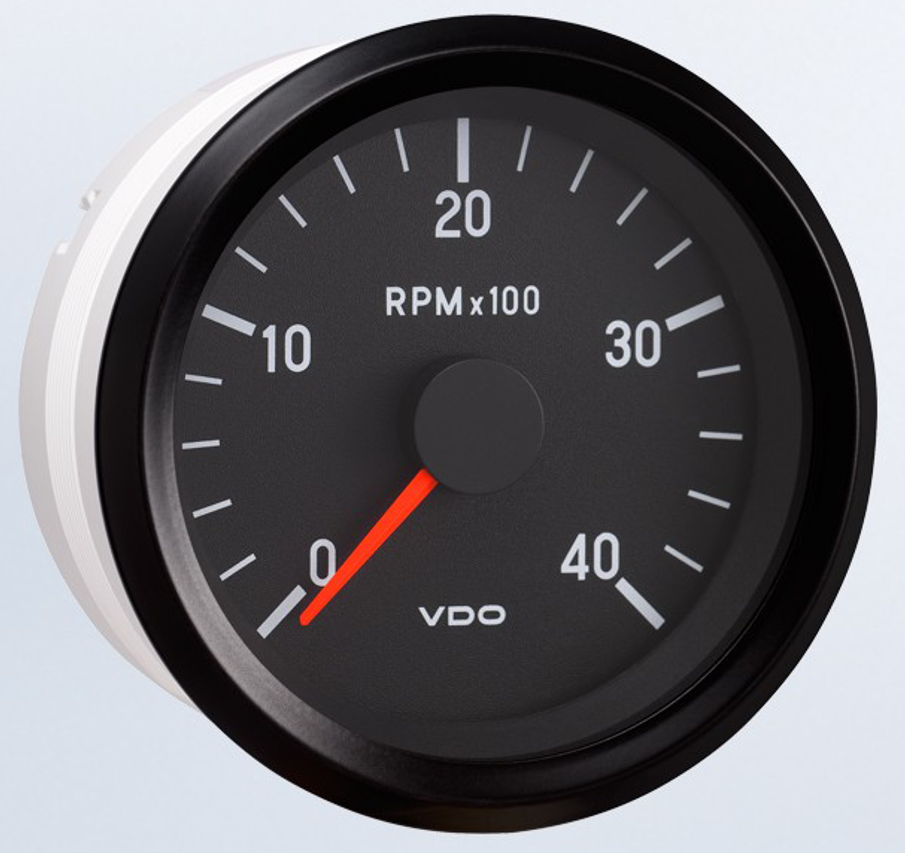 """NO LONGER AVAILABLE, VDO HAS ENDED PRODUCTION -  Three in Stock as of July 28th, Please contact before Purchasing to Ensure inventory.  VDO Cockpit Programmable Tachometer, 0-4000 RPM, 12V, 4-6-8 cylinder. For use with alternator, ignition, and 12 volt square wave applications. 2 1/16"""" (52mm) ..."""