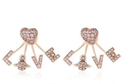 Vivienne Westwood Agatha LOVE Earrings gold