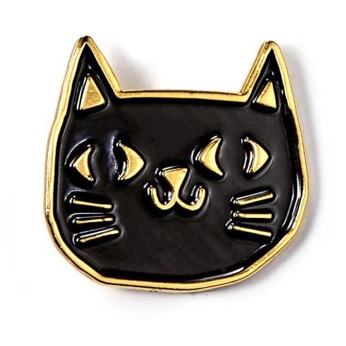 Black Cat Enamel Badge