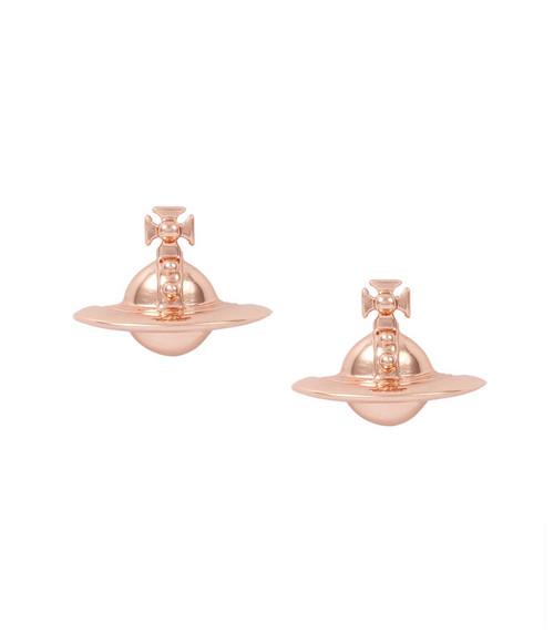 Vivienne Westwood Solid Orb Earrings pink gold