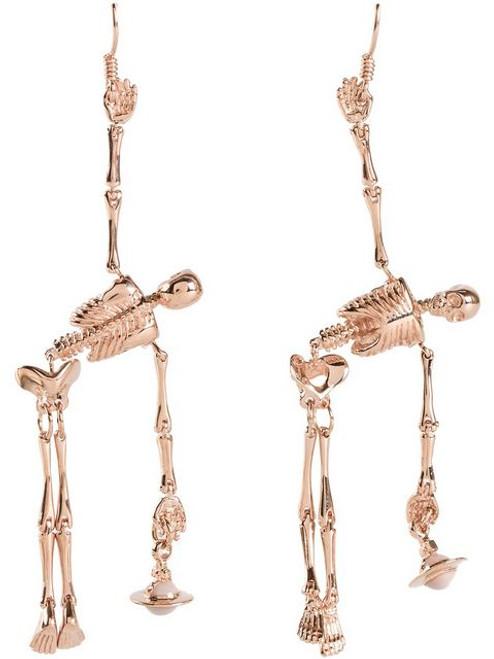 Vivienne Westwood Skeleton Earrings Gold