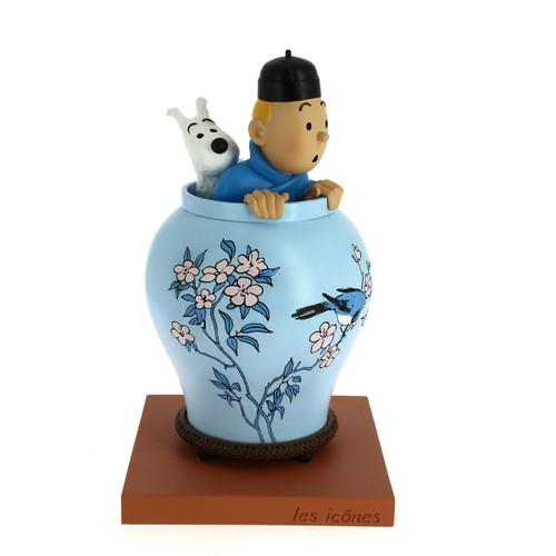 tintin blue lotus statuette 1