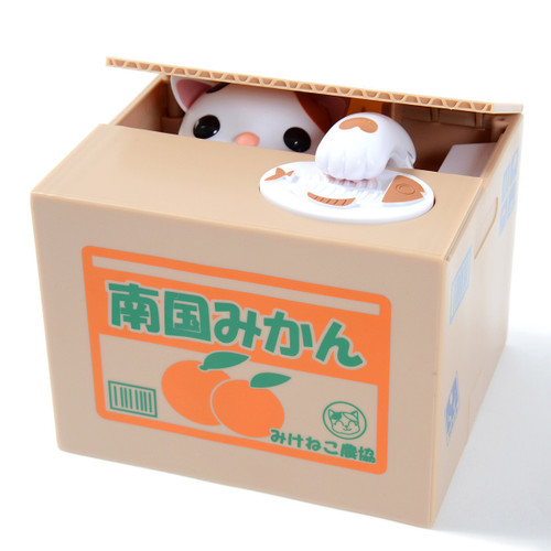 The Original Itazura Cat in Box Bank
