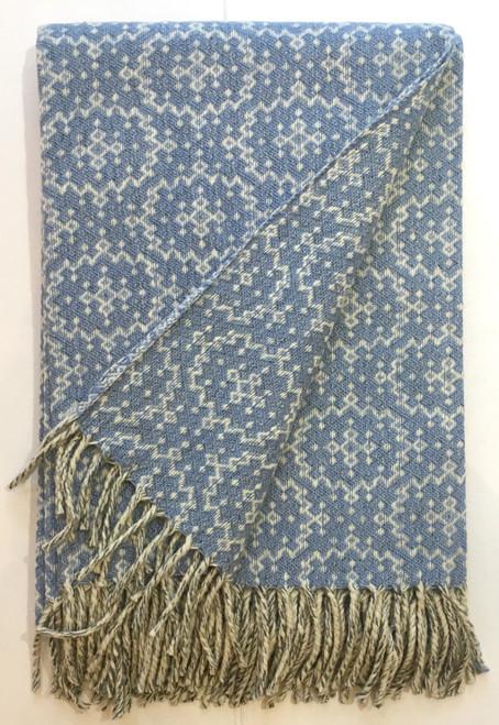 Mantecas Burel Wool Blanket / Timeless light blue