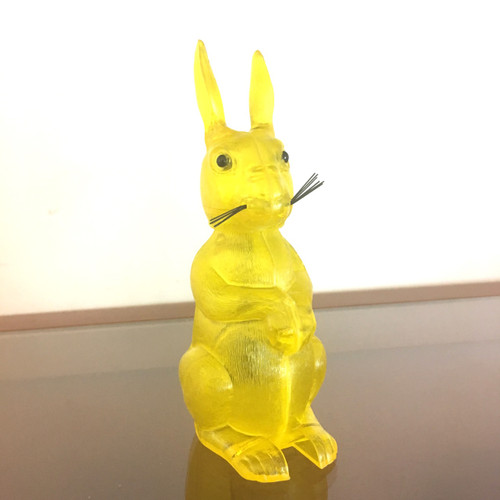 Breba Rabbit Nodder translucent yellow