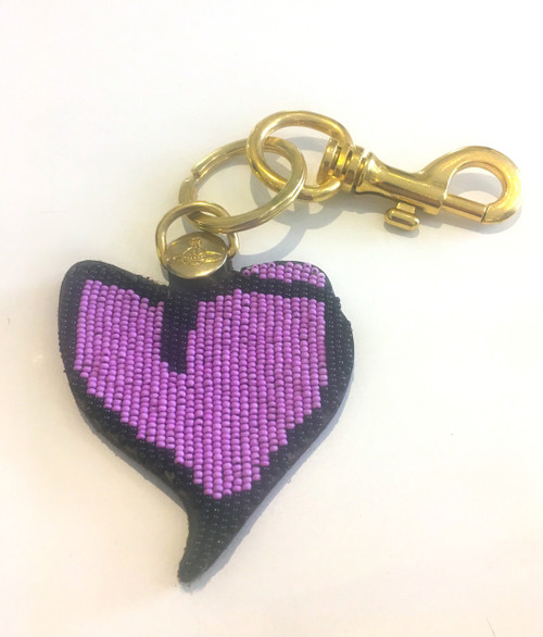 Vivienne Westwood Beaded Heart Key Ring