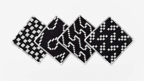 bitmap coasters black and white