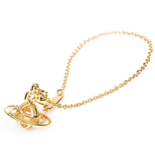 Vivienne Westwood Thin Lines 3D Orb Bracelet gold