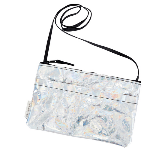 essential recycled bag la borsettina silver