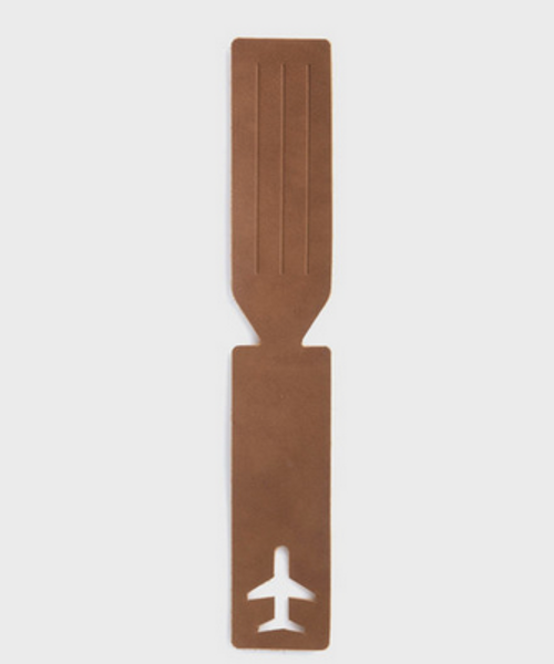 Plane Leather Luggage Tag