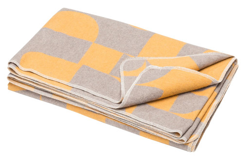 Fussenegger Blanket-Throw / Silvretta Grafik gold-grey