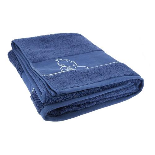 tintin towel indigo