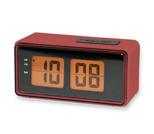 Digital Flip Alarm Clock red