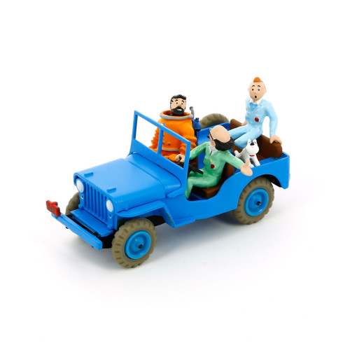tintin car blue jeep