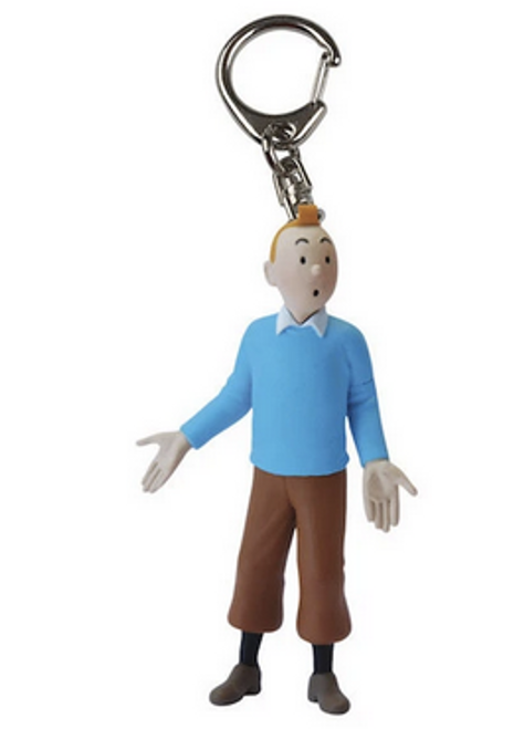 Tintin Figure Blue Pullover Keyring