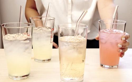 Reusable Glass Straws / Set of 6