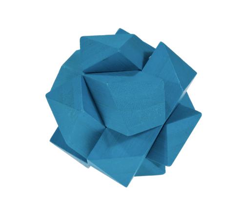 IQ Test Bamboo Puzzle / Angular Knot blue