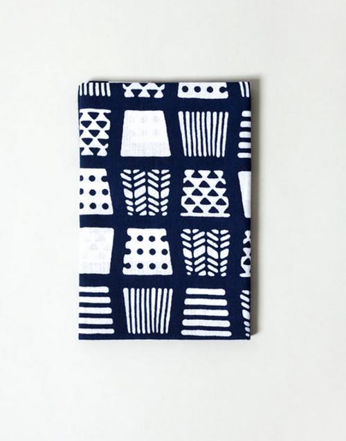 Kawamanu Tenugui Sake Cup blue / Multi-purpose Japanese Cloth