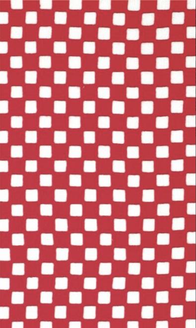 Kawamanu Tenugui Check red / Multi-purpose Japanese Cloth