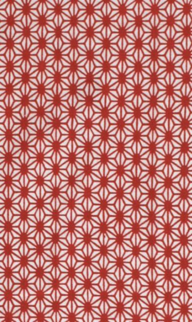 Kawamanu Tenugui Asanoha red / Multi-purpose Japanese Cloth