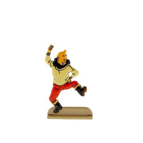 Tintin Metal Figure Doing a Jig