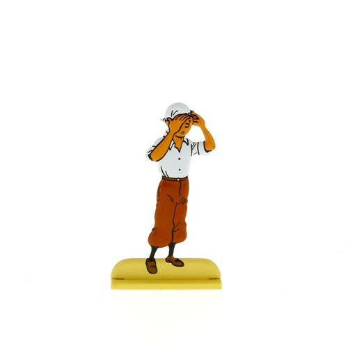 Tintin Metal Figure Scans the Desert
