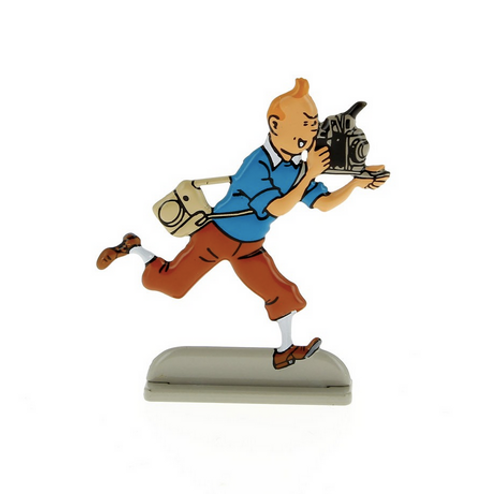Tintin Metal Figure Photographer
