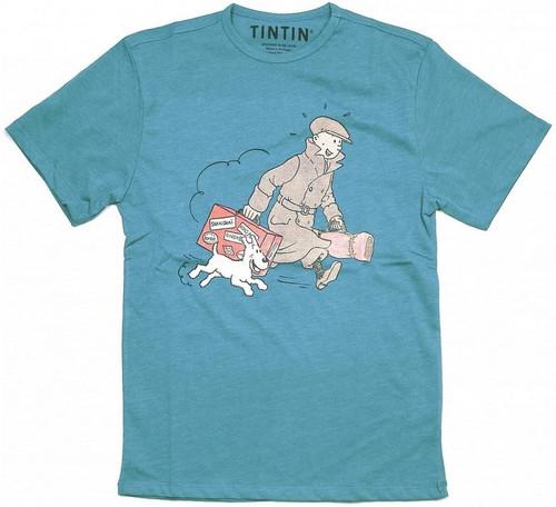 Tintin TShirt Suitcase blue