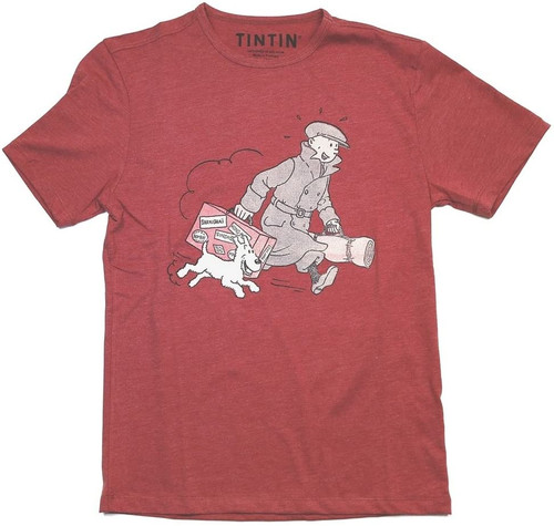 Tintin TShirt Suitcase red