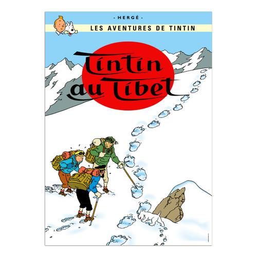 Tintin Poster Tintin au Tibet