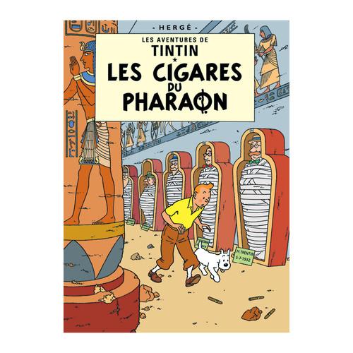 Tintin Poster Le Cigares du Pharaon