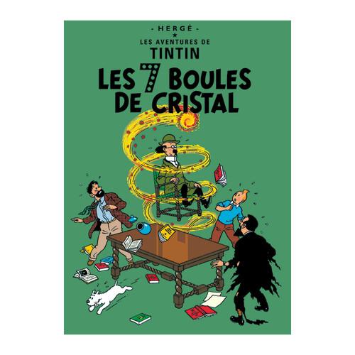 Tintin Poster Le 7 Boules de Crystal