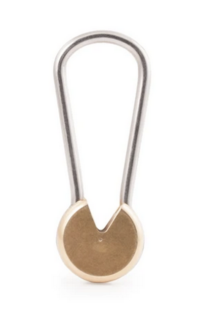 Brass Twist and Lock Keyring