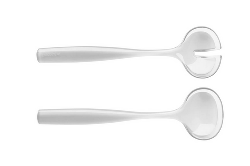 Grace Salad Servers white