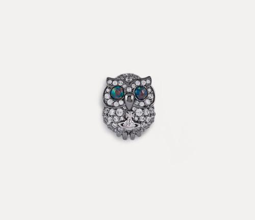 Vivienne Westwood Louisette Owl Pin