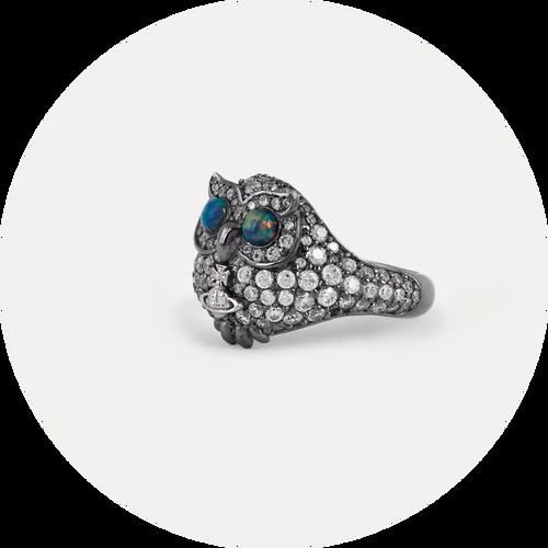 Vivienne Westwood Louisette Owl Ring
