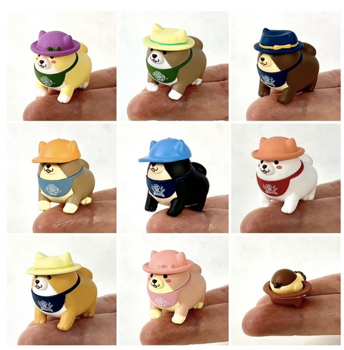 shiba inu with hat assortment