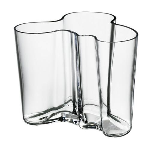 "Aalto Vase  Savoy clear 4.75"""
