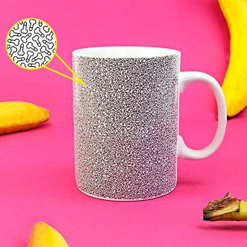 Micro Penis Pattern Mug [For growers not showers]