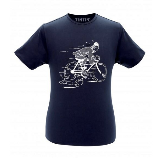 Tintin TShirt Bicycle navy blue