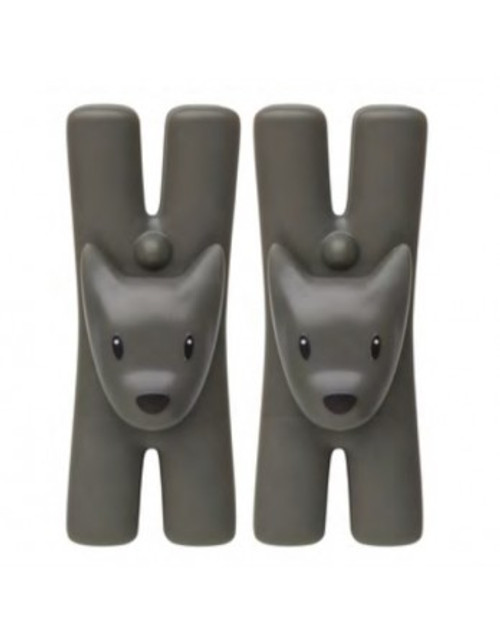 alessi giampo dog clip set black