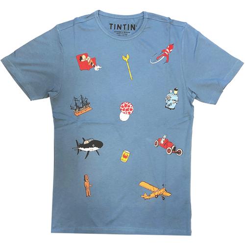 tintin tshirt icons blue