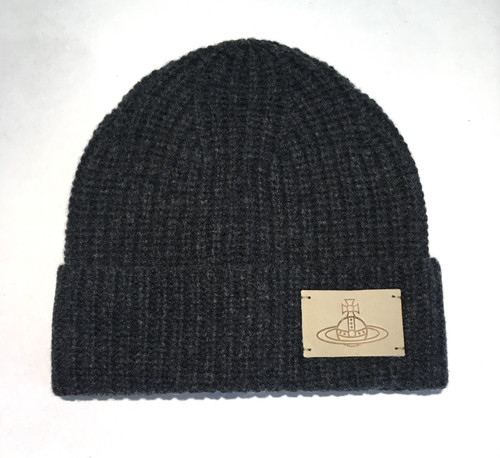 vivienne westwood beanie with orb anthracite