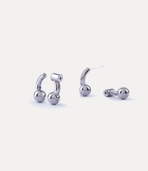 vivienne westwood kyle earrings silver rhodium 1