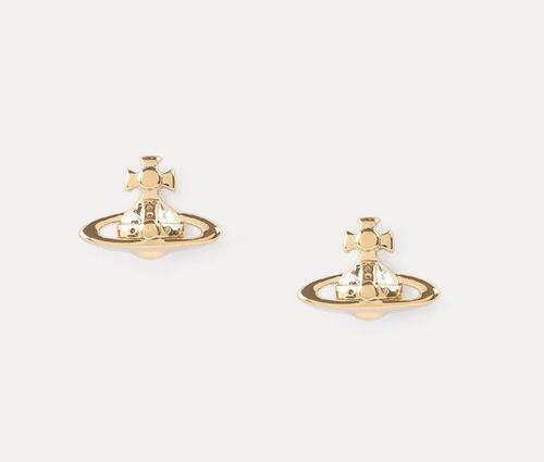 vivienne westwood lorelei stud earrings gold finish