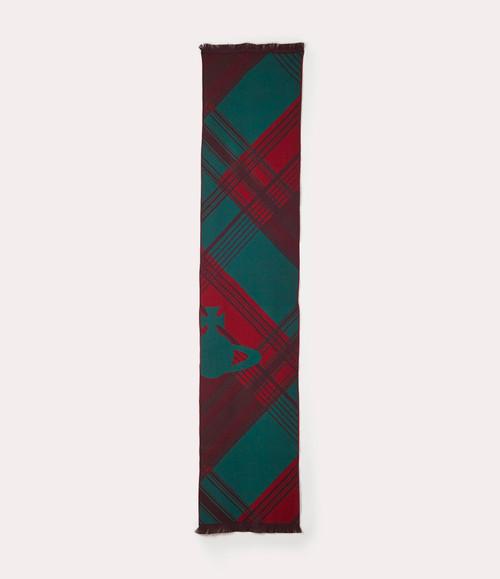 vivienne westwood cropped tartan scarf green 2