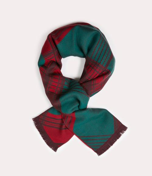 vivienne westwood cropped tartan scarf green 1